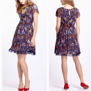 Anthropologie Weston Flared Caraz Dress